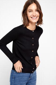 Cortefiel Lurex trim jacket Black