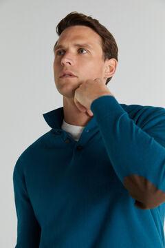 Cortefiel Cotton/cashmere trucker neck jumper Burgundy