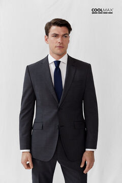 Cortefiel Grey tailored fit COOLMAX® blazer Dark gray