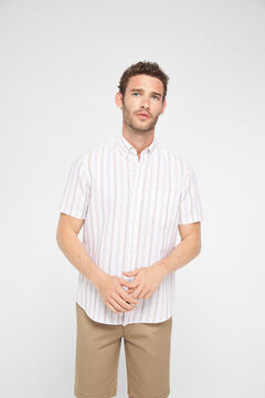 Cortefiel Short-sleeved shirt Stone