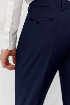 Cortefiel Slim fit checked trousers Navy