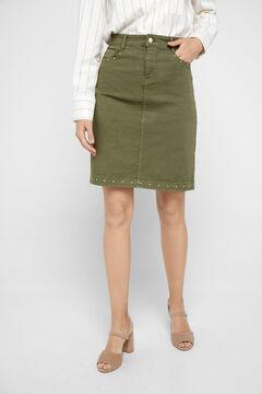 Cortefiel Straight skirt Dark gray