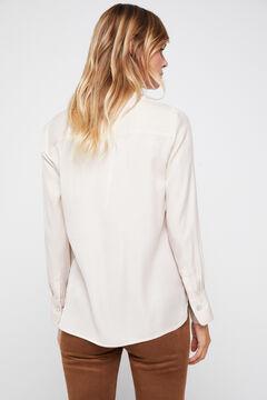 Cortefiel Silk feel shirt Ecru