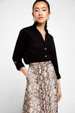 Cortefiel A-line midi skirt Natural