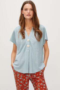 Cortefiel Comfort blouse Blue
