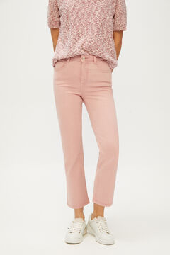 Cortefiel Cropped bell-bottom jeans Purpura
