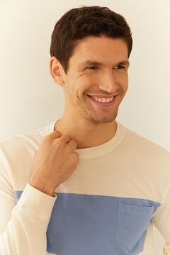 Cortefiel Long-sleeved T-shirt Ecru