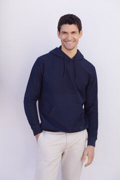 Cortefiel Hooded sweatshirt Navy