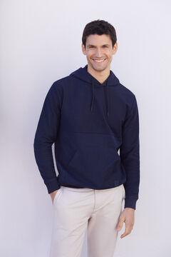 Cortefiel Sweatshirt com capuz Azul