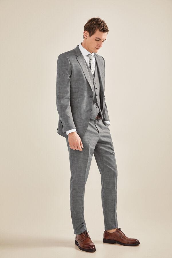 8d272f33f4c2d Cortefiel Pantalón traje gris slim fit Gris