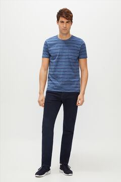 Cortefiel Slim fit 5-pocket coloured jeans in COOLMAX ECOMADE ALL SEASON® fabric Navy