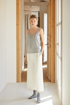 Cortefiel Ribbed vest Gray