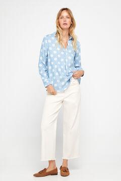 Cortefiel Shirt with polo shirt collar Royal blue