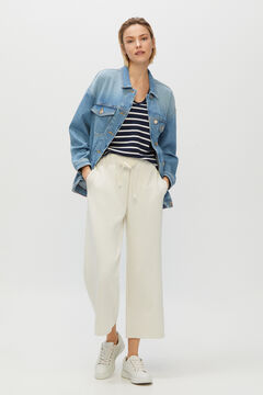 Cortefiel Oversize denim jacket Blue jeans