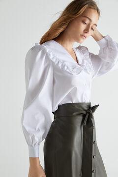 Cortefiel Camisa algodón orgánico Blanco