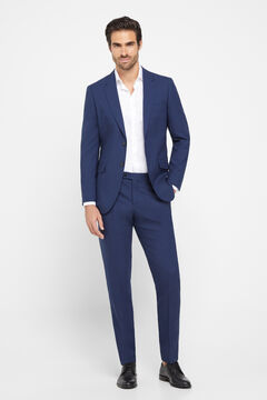 Cortefiel Blue slim fit suit blazer Navy