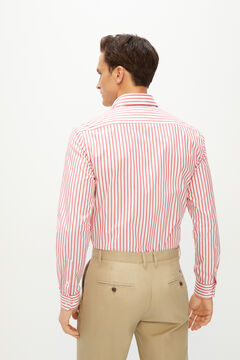 Cortefiel Coolmax eco-made stretch striped shirt Coral