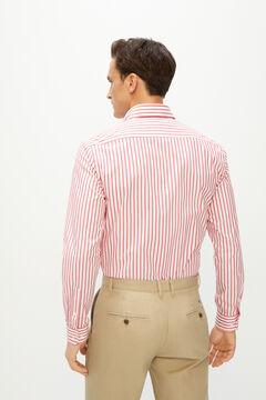 Cortefiel Camisa stretch listrada Coolmax eco-made Vermelho