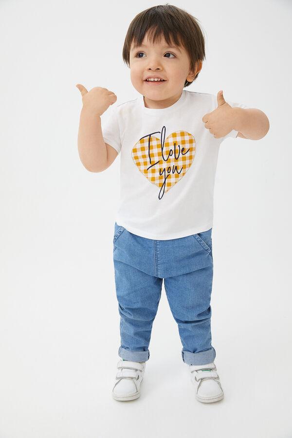 3755c6da885 Cortefiel Camiseta detalle corazón Beige