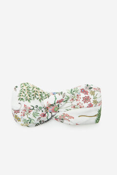 Cortefiel Printed fabric headband Natural