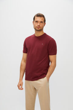 Cortefiel Short-sleeved T-shirt Fuchsia