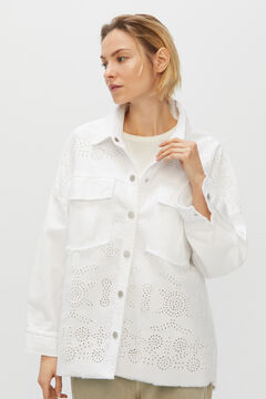 Cortefiel White embroidered jacket White