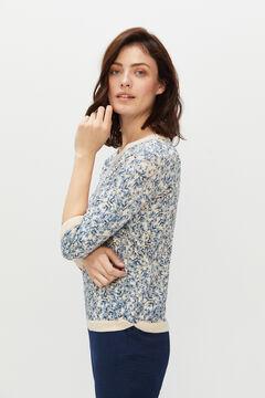 Cortefiel Floral print jumper Blue