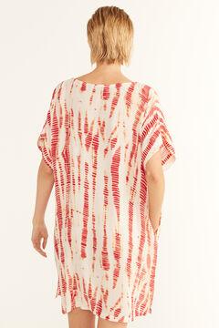Cortefiel Tie-dye tunic kaftan Pink