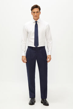 Cortefiel Classic fit suit trousers Navy