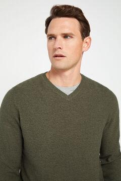 Cortefiel V-neck jumper Kaki