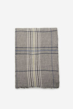 Cortefiel Fine pleated foulard with Prince of Wales check print Natural