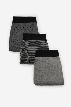 Cortefiel 3-pack jersey-knit boxers Dark gray