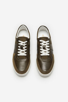 Cortefiel Lace-up sneaker Kaki