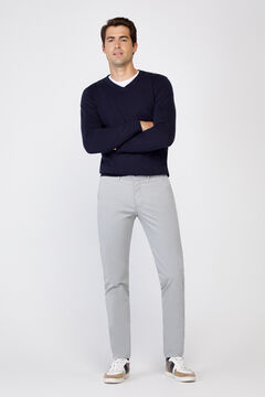 Cortefiel Essential slim fit lightweight chinos Gray