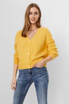 Cortefiel Knit cardigan Yellow