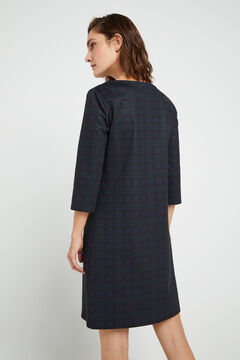 Cortefiel Yoke tunic dress Green