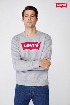 Cortefiel Sudadera Levi's® cuello redondo logotipo Gris