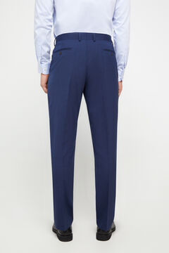 Cortefiel Blue classic fit suit trousers Turquoise