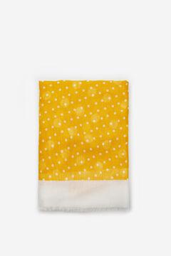 Cortefiel Polka-dot fine scarf Stone