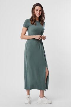 Cortefiel Long dress Pistachiogreen