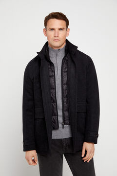 Cortefiel Jacket with removable lining Gray