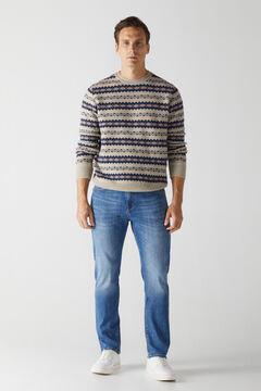 Cortefiel Regular dynamic medium wash jeans Bluejeans