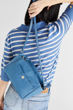 Cortefiel Crossbody bag with front pocket Royal blue