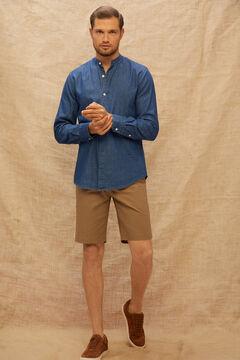 Cortefiel Bermuda estilo chino básica lisa color Marrón