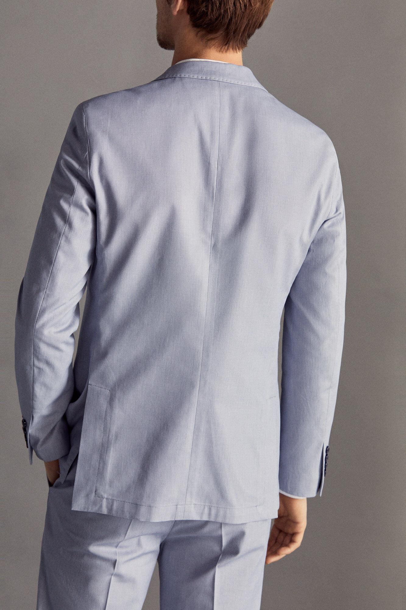 a1489811e Americana algodón ojo perdiz slim fit