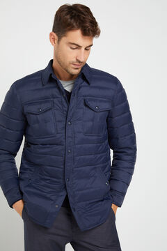 Cortefiel Ultralight quilted overshirt with Thermolite eco Navy