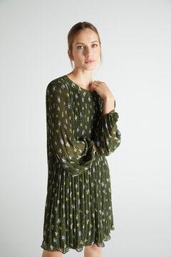 Cortefiel Short comfort dress Green