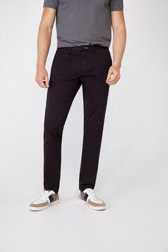 Cortefiel Essential slim fit lightweight chinos Black