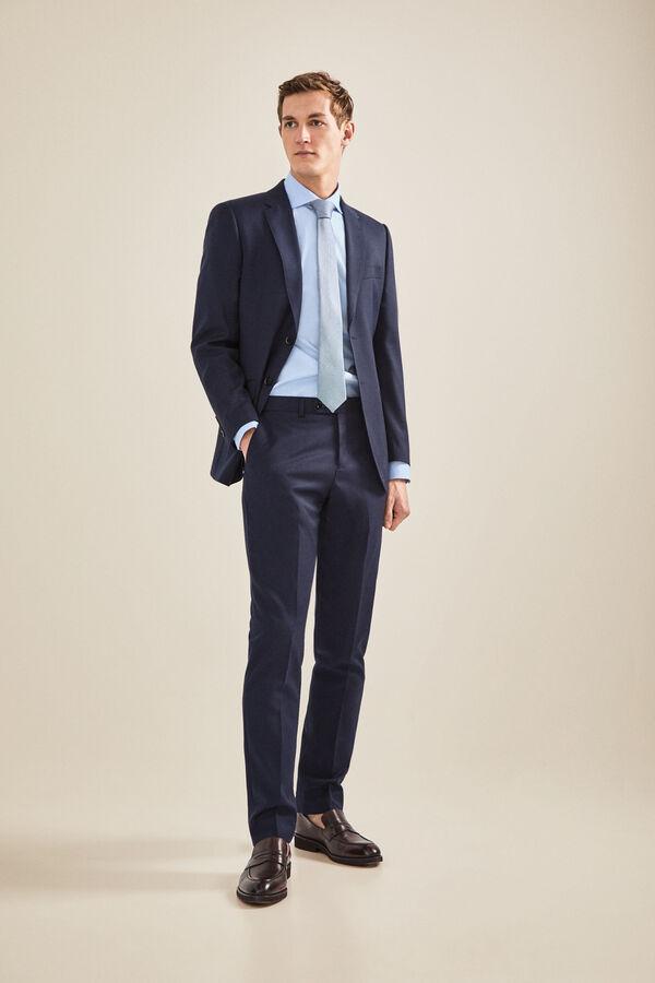 3c701a461574c Cortefiel Pantalón traje marino slim fit Azul