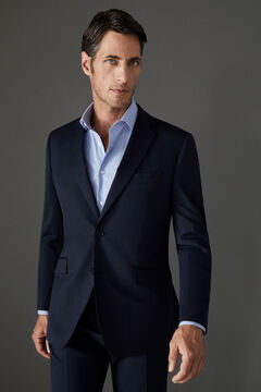 Cortefiel Navy blue tailored fit COOLMAX® blazer Navy